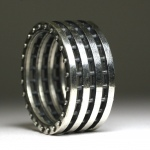 sterling silver industrial wedding ring