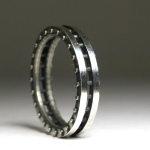 Ladies industrial ring hand made in the USA sterling silver