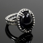 hand made to order in custom sizes onyx ring