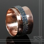 Hammered Copper with Sterling Spinner