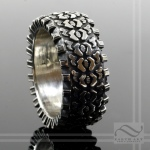 Off Road! Sterling Silver Tire Ring