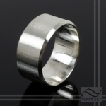 hand made 10mm Wide Mens Sterling wedding Band