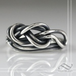 Figure 8 knot ring sterling silver