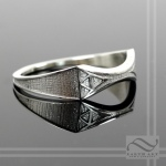 Ladies Zelda Wedding Band -Sterling Silver