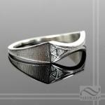 Ladies Zelda Wedding Band -Sterling Silver