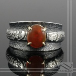Hand Made mexican fire opal ring