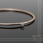 Rose Gold and Diamond Bangle