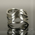Sterling silver Wide River Delta Ring