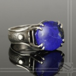 hand made Lapis Sterling Ring of the World