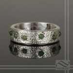 Mens solid sterling silver jade ring