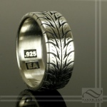 Low profile car racing tire tread ring