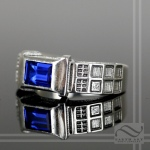 Tardis Ring with Diamond and Sapphire Engagement ring