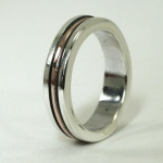 Thin Sterling and Copper Inlay Ring