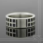 solid sterling silver Tardis Band