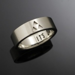 Its Dangerous to go alone wedding band with triforce