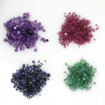 40cts Amethyst, 30cts Sapphire, 32 cts Ruby and 20 cts Emerald