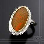 Dish of Opal -  Sterling and 18k