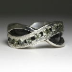 Hand made Montana Sapphire River Ring in sterling silver