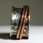 Rugged Double Copper Spinner Ring