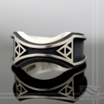 Mens Zelda Wedding Band -Sterling Silver