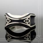 Mens Zelda Wedding Band -Sterling Silver