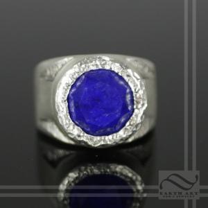 Lapis Mens Modern Signet Ring