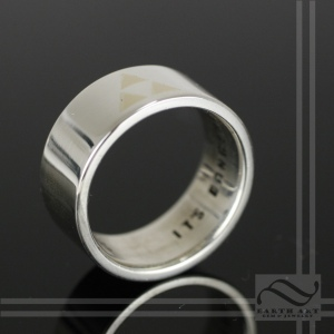 Its Dangerous to Go Alone - Sterling Triforce Wedding Band