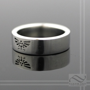 14k white gold Crest of Hyrule wedding band