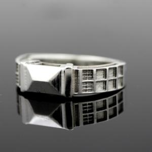 TARDIS Ring Sterling Silver
