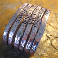 Copper Cuff with Stamping