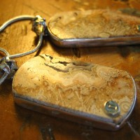 Crazy Lace Agate Army Dog Tags