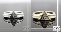 Silver and gold triforce rings!