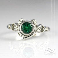 Customized Kokiri Emerald Ring
