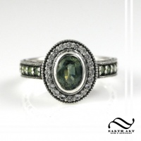 Engagement Ring Remake - Green Sapphire