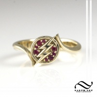 The Flash in 14k and rubies