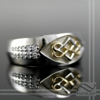 Mens Celtic Heart Wedding Band