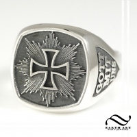 Mens Imperial Cross Signet Ring