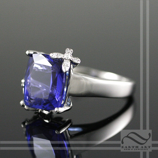 Tanzanite Butterfly Cocktail ring
