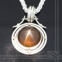 Star Smokey Quartz Compass Pendant
