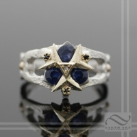 Sterling and Gold Zoras Sapphire Ring