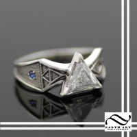 Custom Diamond Zelda Engagement ring