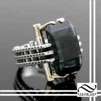 Master Cut Tourmaline Ring Setting