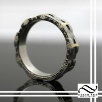 Custom two tone gold Stargate ring