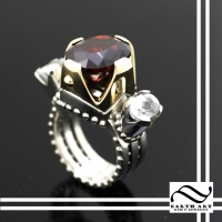 Garnet and Zircon Fortress Ring