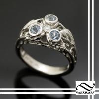 Zoras Sapphire in Aqua & Platinum