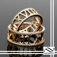 Roman Numeral Diamond Eternity Bands