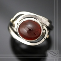 Garnet Cyclone Ring