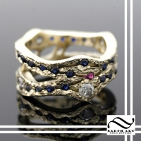 Winding River Path ring in 14k