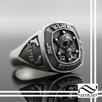 Blue Brotherhood Motorcycle Club Ring