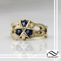 Zora's Sapphire Engagement Ring in 14k